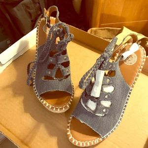 New OS Denim wedge size 8 1/2